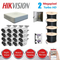 HikVision 16 CH 2MP HD CCTV Pack - Requires Crimper