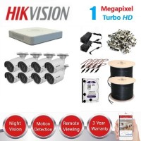 HikVision 8 CH 1MP HD CCTV Econo Pack - Requires Crimper