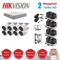 HikVision 8 CH 2MP HD CCTV DIY Kit
