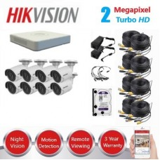 HikVision 8 Ch 2MP Turbo HD CCTV Kit - Remote access - Plug and play - DIY