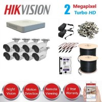 HikVision 8 CH 2MP HD CCTV Econo Pack - Requires Crimper