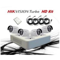 HikVision 4 CH 1MP HD CCTV DIY Kit