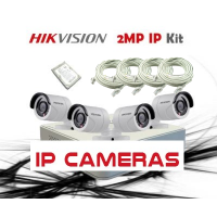 HikVision 8CH NVR, 4 x 2MP IP CCTV Pack - DIY Kit