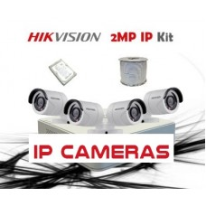 HikVision 8CH NVR 4 x 2MP IP CCTV Pack - Requires Crimper