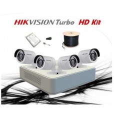 HikVision 4 CH 1MP HD CCTV Pack - Requires Crimper