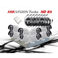 HikVision 8 CH 1MP HD CCTV DIY Kit