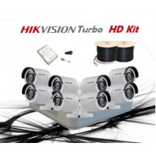 HikVision 8 CH 1MP HD CCTV Pack - Requires Crimper