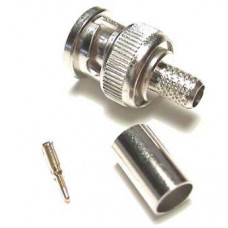 BNC Connector, 6mm crimp plug – Economical