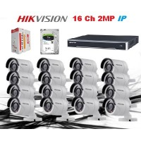 HikVision 16 CH 2MP IP CCTV Pack