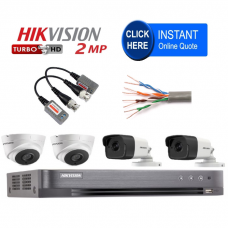 Build your own HD CCTV Pro Kit - Cat 5 / Baluns - CCTV knowledge required - Easy install